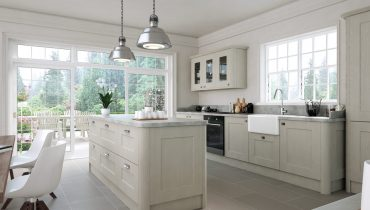 Bella Cambridge Oakgrain Grey Kitchen