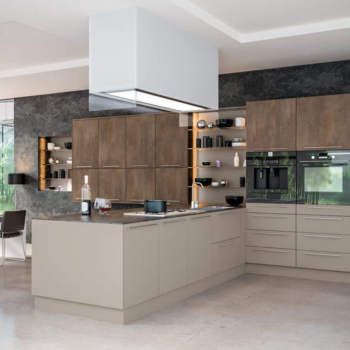 Modern-Kitchen-Brown-Grey